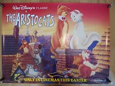 THE ARISTOCATS (1970) RR 90's - original UK quad film/movie poster, Walt Disney