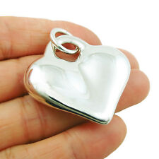 Solid Hallmarked 925 Sterling Silver Love Heart Pendant Gift Boxed