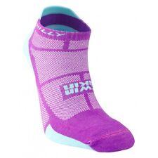 Hilly Twin Skin Womens Anti Blister Running Socklet Socks - Purple/Aquamarine