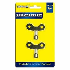 2 RADIATOR KEY RING SET BLEED BLEEDING BLEEDER AIR VENT KEYS