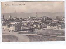 CARTOLINA PISTOIA PANORAMA DELLA CITTà VIAGGIATA 1915