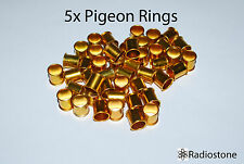 Pigeon Rings Aluminum Rings For Pigeons 5 pcs Gold. US Seller