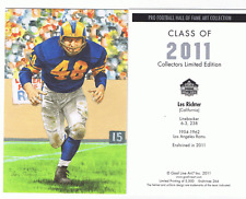 2011 Les Richter goal line art card St. Louis Rams