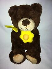 "Edible Arrangements Plush Brown Yellow Daisy Teddy Bear 10"" Tall Stuffed Toy"