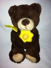 "Edible Arrangements Plush Brown Yellow Daisy Teddy Bear 10"" Tall Stuffed Toy"