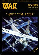 "1/33 scale Lindbergh's plane ""Spirit of St.Louis"" -Paper Card Model"