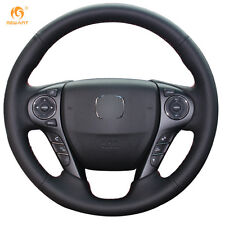 Leather Steering wheel Cover for Honda Accord 9 Odyssey Crosstour 2014-15  #0542