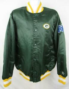 Green Bay Packers Mens Size X-Large Snap Up Embroidered Starter Jacket APAC 269