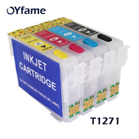 OYfame T1271 127 XL Refill ink cartridge For Epson WF-3520 3530 3540 7010 7510