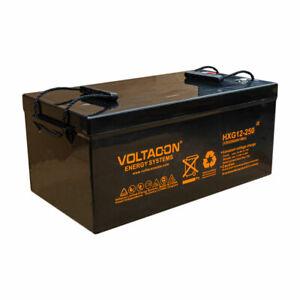 Deep Cycle GEL Lead Acid Battery 12V 250Ah Solar Off Grid Maintenance Free