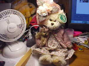 "Bearington Collection Series Limited 9"" Tall Girl Bear"
