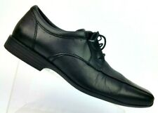 Clarks Collection Black Leather Square/Bicycle Toe Oxford Dress 15807 Men's 11 M