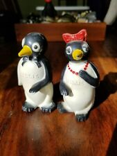 Vintage 1950 Kool Cigarettes Willie Millie Penguin Salt Pepper Shaker Set