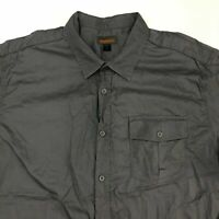 Northwest Territory Button Up Shirt Mens 2XL XXL Short Sleeve Gray Casual Cotton