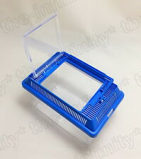 Small Pet Home Baby Fish Animal Aquarium Plastic Stand Clear Cage Dwarf Mouse