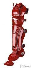 """Wilson A3540 Fastpitch softball catchers gear leg guards NEW Red 16"""""""