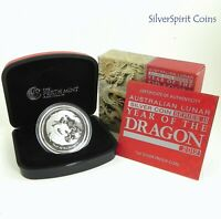 2012 YEAR OF THE DRAGON Silver Proof Coin