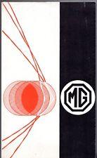 MG 1962-63 UK Market Foldout Sales Brochure 1100 Midget Magnette MGB