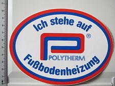 Aufkleber Sticker Polytherm - Fussbodenheizung (3163)