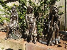 Maiden Mother Crone Statue Set of 3 Wiccan Pagan Witch  Magick Triple Goddess
