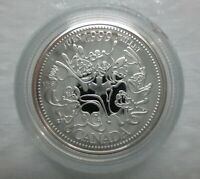 1999 CANADA 25¢ JULY MILLENNIUM SERIES STERLING SILVER PROOF QUARTER COIN