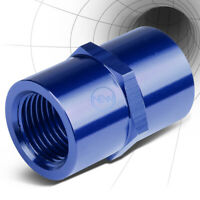 """FEMALE 3/8""""-18 NPT PIPE THREAD COUPLER BLUE ANODIZE ALUMINUM FITTING ADAPTER"""