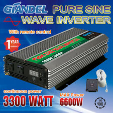 Large Shell Pure Sine Wave Power Inverter 3300W/6600W 12V to 240V Remote Control