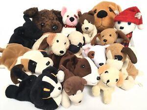 16 x Plush Soft Toy Dogs inc Ty Beanie Babies Bruno Cupid Luke Bernie Butch