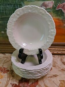 """Set of 8 Pope Gosser Rose Point 5 3/4""""Fruit Bowls"""