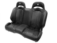 Pro Armor LE Suspension Rear Bench Seat Black Vinyl Polaris RZR XP 4 1000 Turbo