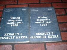 GENUINE RENAULT 5 & EXTRA WIRING DIAGRAMS MANUALS. 1988.