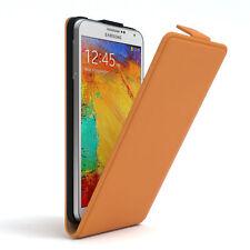 Tasche für Samsung Galaxy Note 3 Flip Case Schutz Hülle Cover Orange