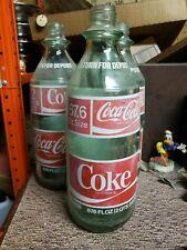Vtg 1976 Coca Cola Bottle 2 Liter 67.6 FL OZ Size Green Glass Coke