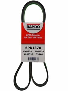 Serpentine Belt-Rib Ace Precision Engineered V-Ribbed Belt Bando 6PK1370