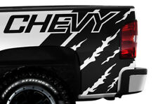 Vinyl Decal Wrap Kit CHEVY QUARTER for 2008-2013 Chevrolet Silverado MATTE BLACK