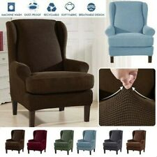 Elastic Armchair Cover Chair Wingback Chair Wing Back Cover Stretch Protector US
