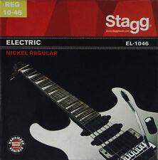 1 vernickelter acciaio set di corde per chitarra elettrica 10-46 nichel regular Stagg el1046