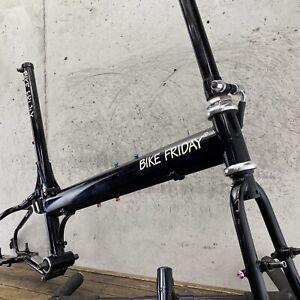 """Bike Friday Frame Set Folding Pocket Rocket 58cm 57cm Vintage 20"""" Wolf Tooth USA"""