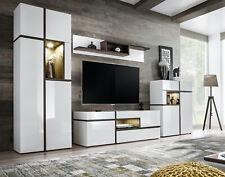 Wohnwand Anbauwand Wohnzimmer Schrankwand CROSS mit Hochglanz Led und Push Click