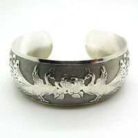 Hot New Tibetan Tibet Silver Chinese Phoenix Totem Bangle Cuff Bracelet MWUK