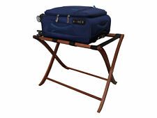 Wooden Folding Luggage Rack - Foldup Suitcase Bag Stand for Guest Room Or Hotel