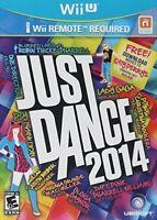 NINTENDO WII U DANCING GAME JUST DANCE 2014 BRAND NEW & FACTORY SEALED