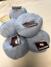6 balls of Anny Blatt Baby Mixte in Carolina Tarheel Blue