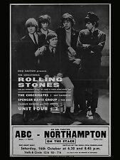 "Rolling Stones Northampton 16"" x 12"" Photo Repro Concert Poster"