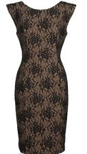 NEW French Connection Lace Bodycon Dress Cream/Black-Size 8, RRP £165