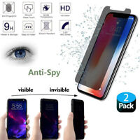 For iPhone 11 Pro Max X XS 7 8 Anti-Spy Privacy Tempered Glass Screen Protector