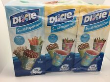 Dixie 5 Ounce All-Purpose Cups, 12 Packs of 100 - 1200 Cups Colors/Styles Vary