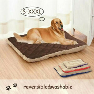 2 Sides Plush Pet Mat Washable Doggy Beds Soft Warm for Small Medium Large Dog