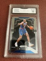 RJ Barrett 2019-20 Panini Prizm Basketball Rookie RC 2019 Card #250 GMA GEM 10