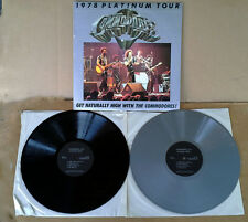 COMMODORES - 1978 PLATINUM TOUR - (2) LP SET - ONE SILVER VINYL, ONE BLACK - PRO